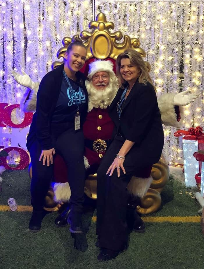 Santa Edmonton with managers at Glow
